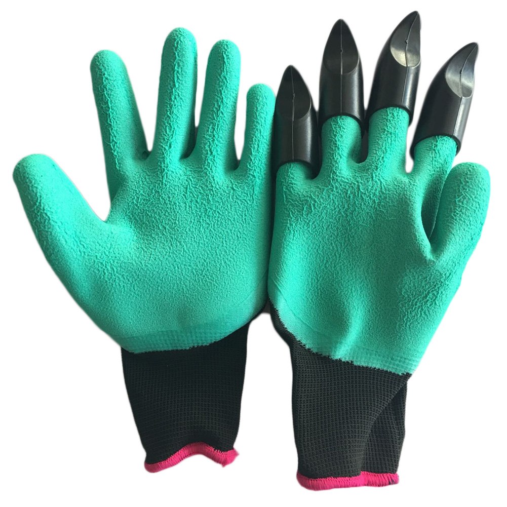 1 Pair Rubber Polyester Builders Garden Work Latex Gloves 4 ABS